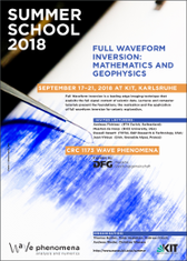 Flyer of the Full Wavesform Inversion Summer School, 2018