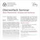 Thumbnail of the poster to the Oberwolfach Seminar