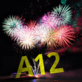 fireworks and text A12